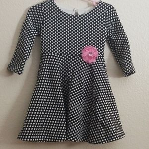 Rare Editions 18M polka dot dress.